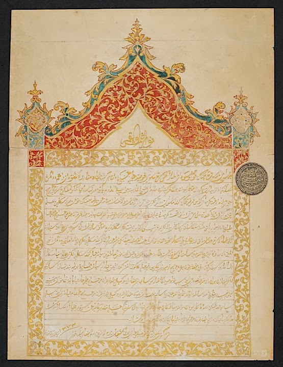 A 'Golden Letter' in Malay to Napoleon III
